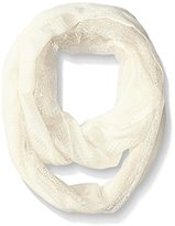 D&Y Women's Texture Woven Scarf with Lace Panel