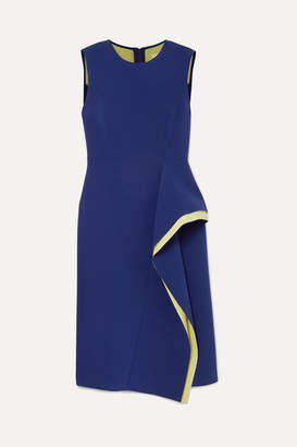 Jason Wu Collection - Draped Two-tone Crepe Dress - Violet