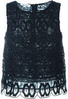 Dondup embroidered tank top - women - Cotton/Polyamide/Polyester/Spandex/Elastane - 38