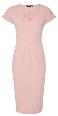 Dorothy Perkins Womens Blush Pleat Waist Pencil Dress