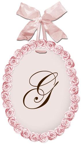 Petite Fleur La Wall Plaque in Pink Petal