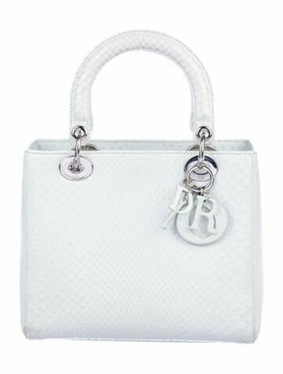Christian Dior Medium Python Lady w/ Strap silver