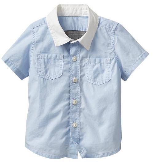 Gap Contrast-back shirt