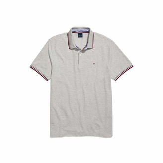 Tommy Hilfiger Men's Adaptive Polo Shirt with Wicking and Magnetic Buttons Custom Fit