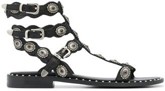Ash decorative stud leather gladiator sandal