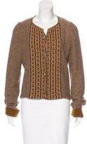 Etro Wool-Blend Embellished Cardigan