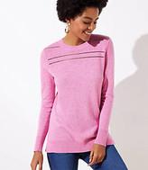 LOFT Stitched Yoke Tunic Sweater