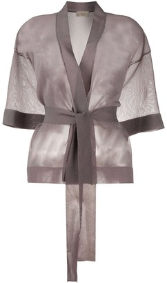 Altea Sheer Belted Cardigan