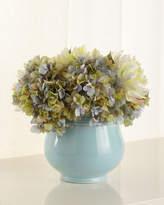 John-Richard Collection Smoke Blue Floral
