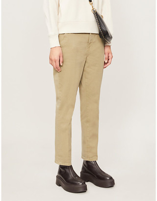 Frame Le Beau mid-rise stretch-cotton trousers