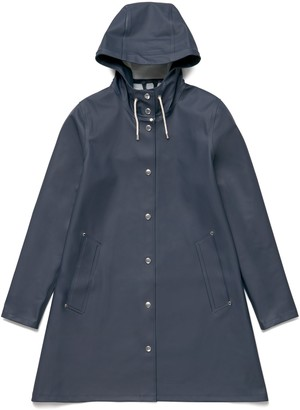 Stutterheim Navy Womens Mosebacke Raincoat - M - Blue