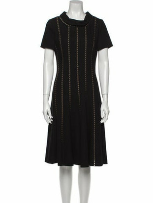 Oscar de la Renta 2013 Knee-Length Dress Wool