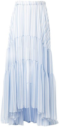 Romance Was Born Louis striped maxi skirt