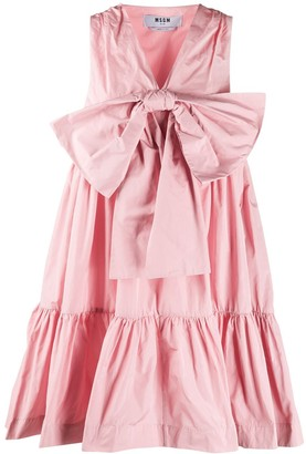 MSGM Flounce Bow Dress