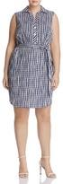 Foxcroft Plus Adele Gingham Shirt Dress