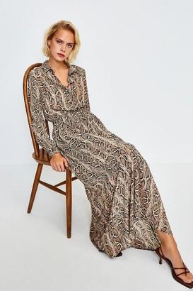 Karen Millen Snake Print Shirt Dress