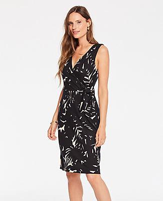 Ann Taylor Midnight Jungle Wrap Dress