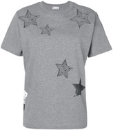 RED Valentino tulle star cut out T-shirt - women - Cotton/Polyamide - M