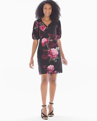 Soma Intimates Multifloral Dress Black Multi