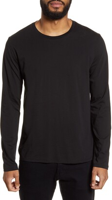 Vince Slim Fit Long Sleeve Crewneck T-Shirt
