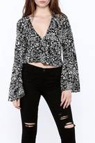 Olivaceous Long Sleeve Crop Top
