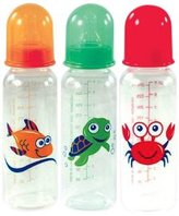 Nurtria Nutria 3 Pack BPA Free Printed Bottles with Silicone Nipple, 8 Ounce