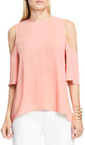 Vince Camuto Cold Shoulder High/Low Top (Petite)