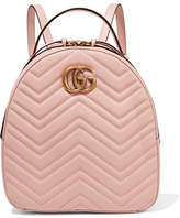 Gucci Gg Marmont Quilted Leather Backpack - Pastel pink