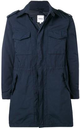 Aspesi Flap Pocket Zipped Coat