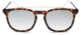 Carrera Men's Brow Bar Square Sunglasses, 52mm