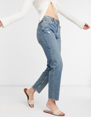 Free People Fast Times high rise mom jeans in indigo blue