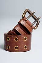 Streets Ahead Double Rivet Belt In Brown
