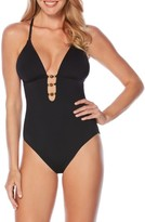 Laundry by Shelli Segal Women's Plunge One-Piece Swimsuit