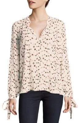 Derek Lam 10 Crosby Floral Raglan Sleeve Silk Blouse