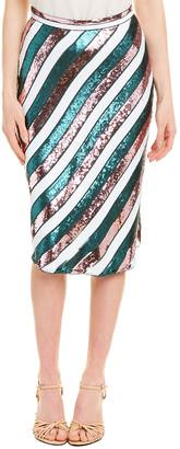 Diane von Furstenberg Sheen Silk Midi Skirt