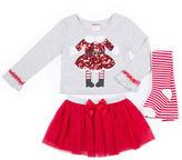 Little Lass 3-pc. Legging Set-Preschool Girls