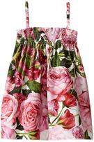Dolce & Gabbana Rose Poplin Dress Girl's Dress