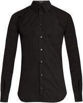 Alexander McQueen Harness long-sleeved stretch-cotton shirt