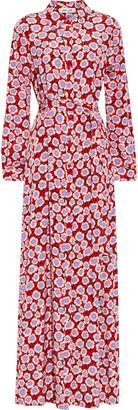 Diane von Furstenberg Amina Floral-print Silk Crepe De Chine Maxi Shirt Dress