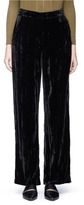 Topshop Crushed velvet wide leg pants