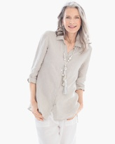 Chico's Linen Button-up Tunic