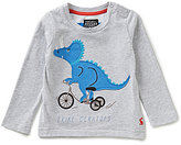 Joules Baby/Little Boys 12 Months-3T Jack Dinosaur-Bicycle Graphic Long-Sleeve Top