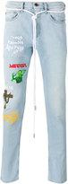 Off-White multiple prints skinny jeans - men - Cotton/Polyester/Spandex/Elastane - 30