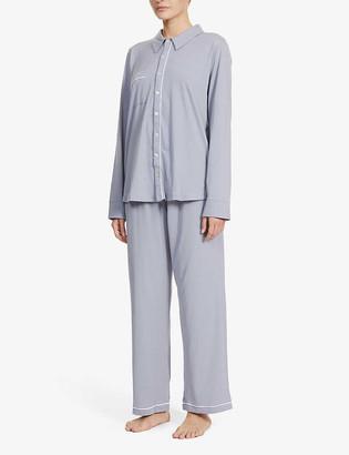 Skin Cecilia button-up cotton pyjama set