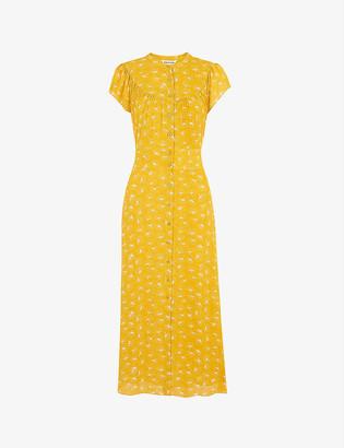 Whistles Isla graphic-print crepe midi dress
