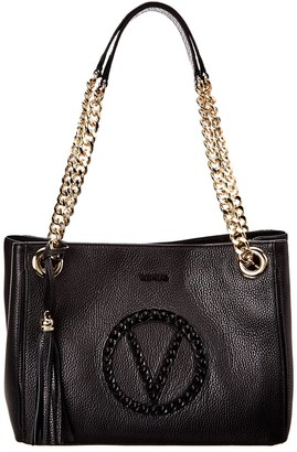 Valentino By Mario Valentino Luisa Rock Leather Shoulder Bag