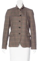 Luciano Barbera Plaid Stand Collar Jacket