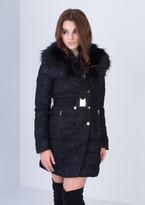 Missy Empire Fleur Black Lace Padded Coat