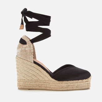 Castaner Women's Chiara Platform Wedged Espadrille Sandals - Black