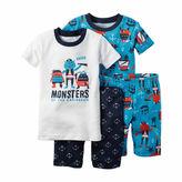 Carter's 4-pc. Monster Pajama Set - Toddler Boys 2t-5t